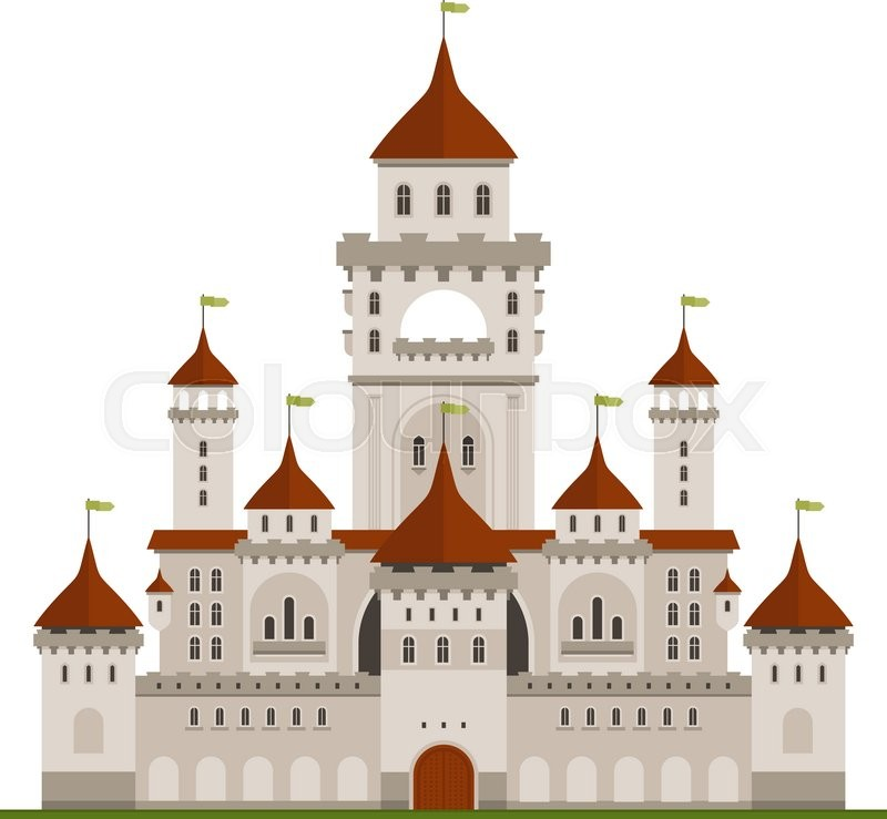 Royal Family Residence Symbol Of Grey Stone Castle With