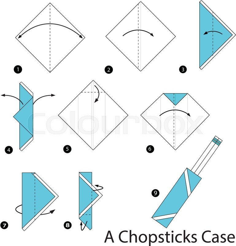 Step By Instructions How To Make Origami A Chopsticks Case