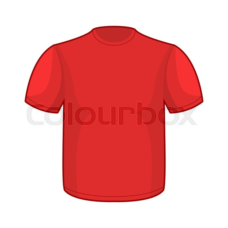 red t shirt template empty clothes for your design stock vector colourbox. Black Bedroom Furniture Sets. Home Design Ideas