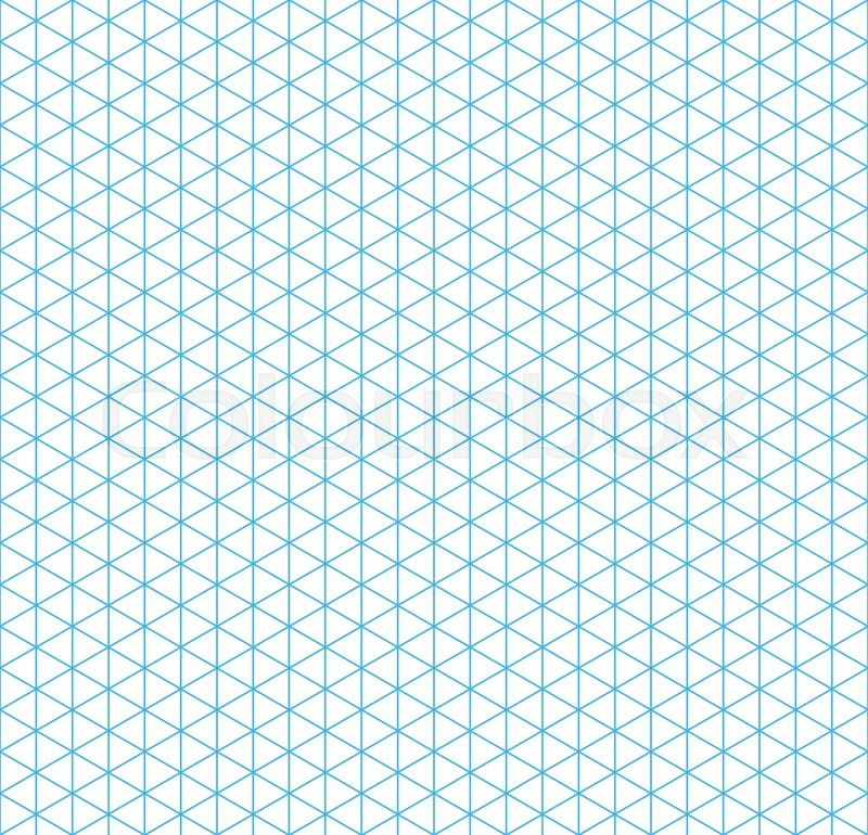 cyan isometric grid with vertical guideline on white  seamless pattern