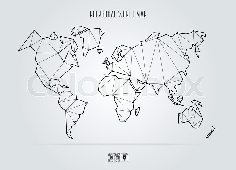 Polygonal abstract world map vector illustration stock vector polygonal abstract world map vector illustration vector gumiabroncs Image collections