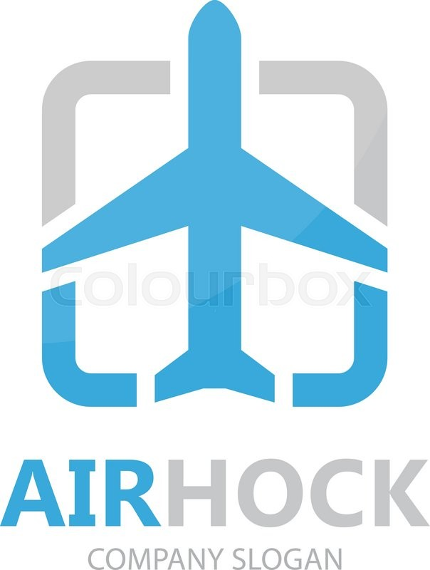 Vector Airplane Logo Design Airport Sky Travel Agency