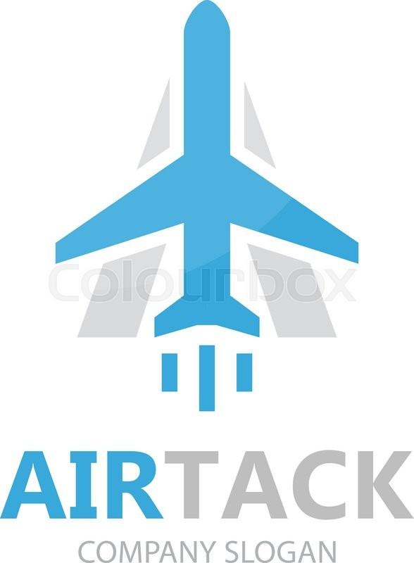 Vector airplane logo design design. Airport logo. Sky travel logo ...