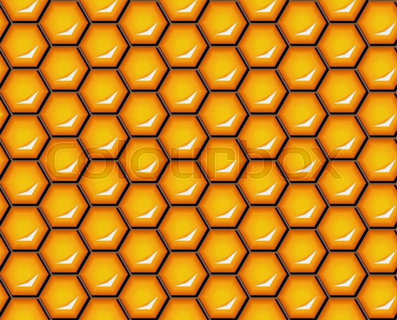 Vector illustration seamless honeycomb background pattern shiny stock vector of vector illustration seamless honeycomb background pattern shiny hexagonal cells voltagebd Image collections
