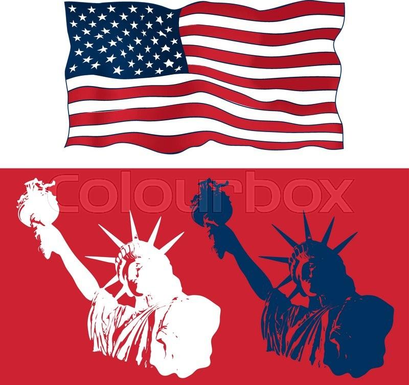 Set Of Festive Art Design Elements For Fourth Of July Independence