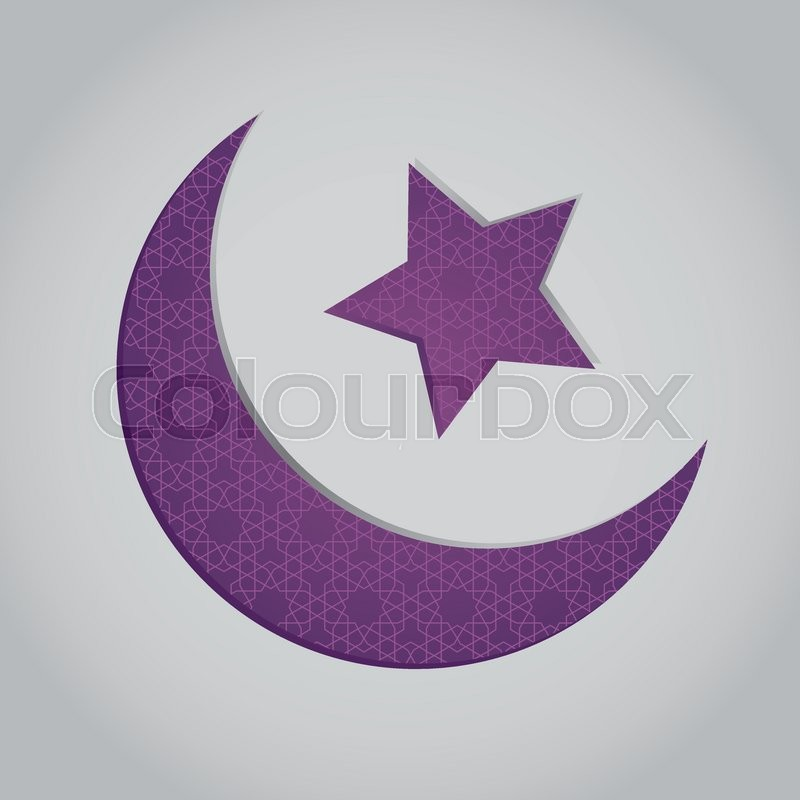 Vector Stock Of Crescent Moon And Star Shaped Islamic Symbol With