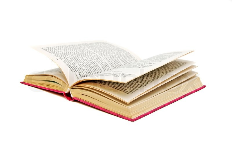 Open Book closeup on white background. ... | Stock image | Colourbox