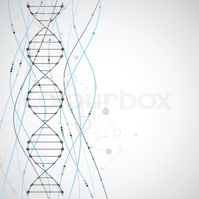 Science Template Wallpaper Or Banner With A DNA Molecules Vector Illustration