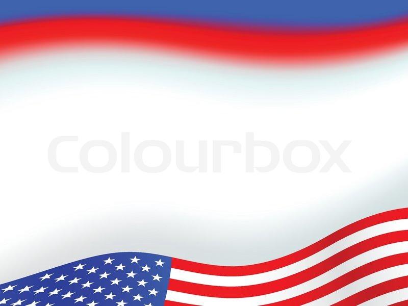 Amerikanische Flagge Hintergrund mit ... | Vektorgrafik ...