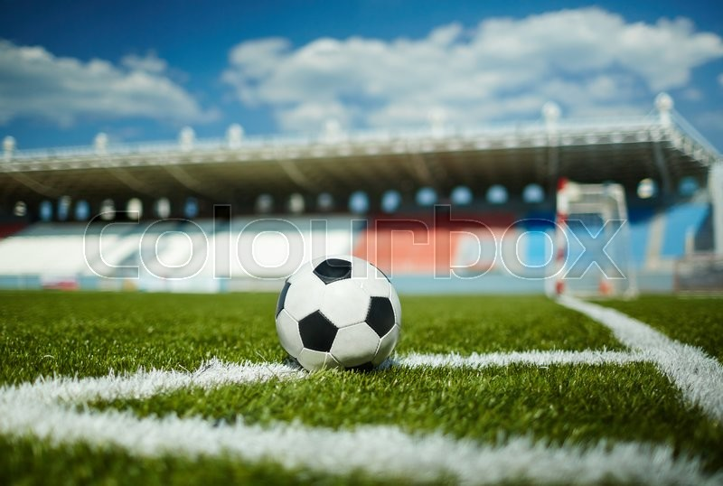 Stock Bild von 'football, ball, stadion'