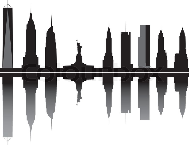 new york skyline stock vector colourbox