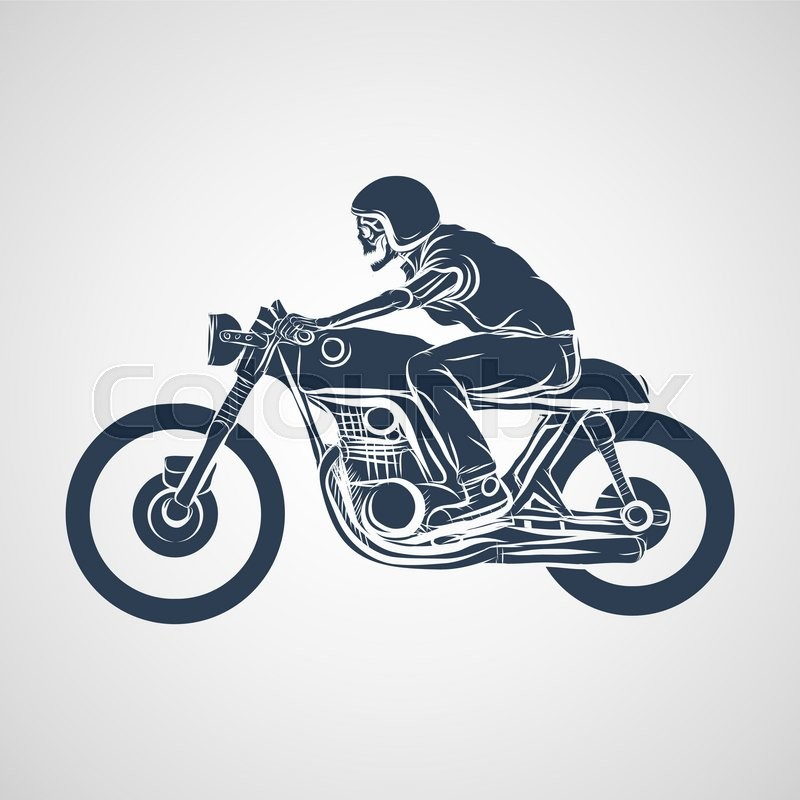 Skull ride a classic cafe racer ...  eaa37f18f845