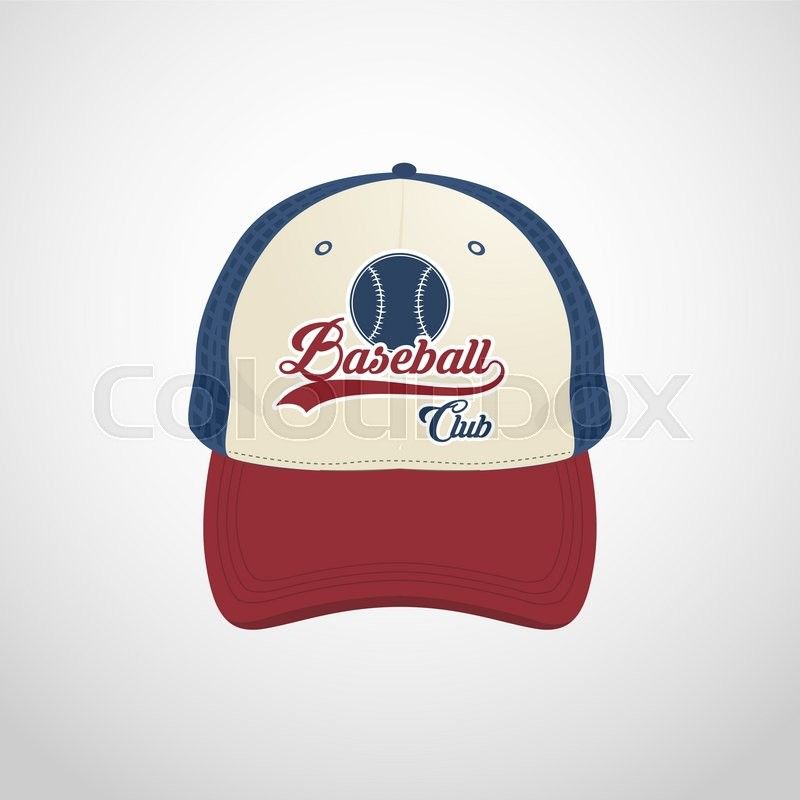 ec3b9915 Baseball cap design template | Stock vector | Colourbox