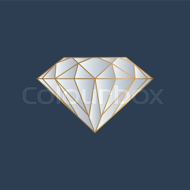 royalty diamond image logo p with letter free vector
