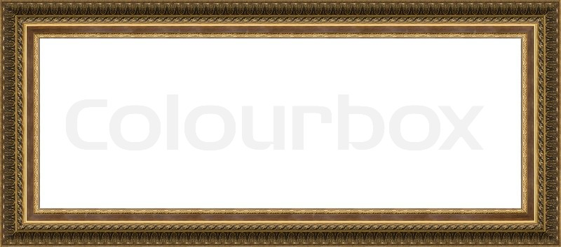 Photo of old frame for a picture, isolated | Stock Photo | Colourbox