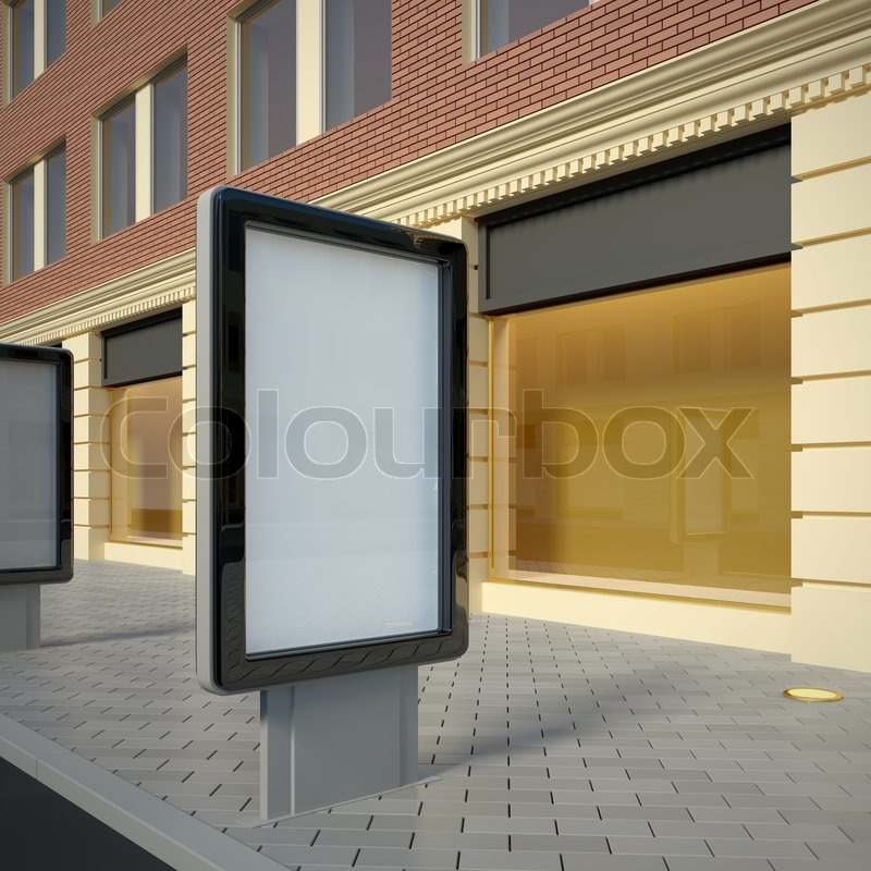 Stock image of '3D illustration of citylight in the downtown. Street view.'