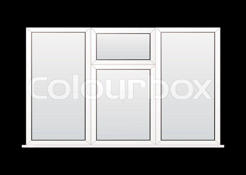modern wei doppelt verglaste kunststoff fenster mit. Black Bedroom Furniture Sets. Home Design Ideas