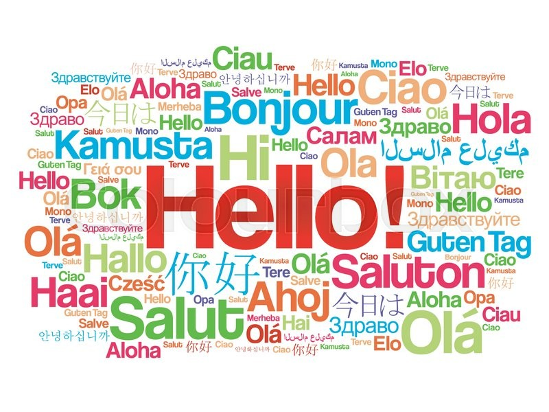 Image result for pictures hello's in different languages
