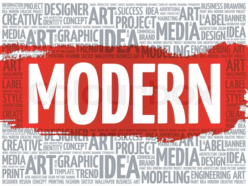 modern word cloud creative business concept background stock