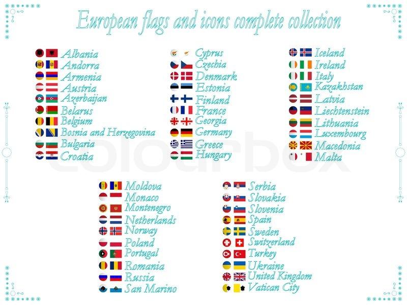 Europäischen Flaggen und Symbole Sammlung in alphabetischer ...