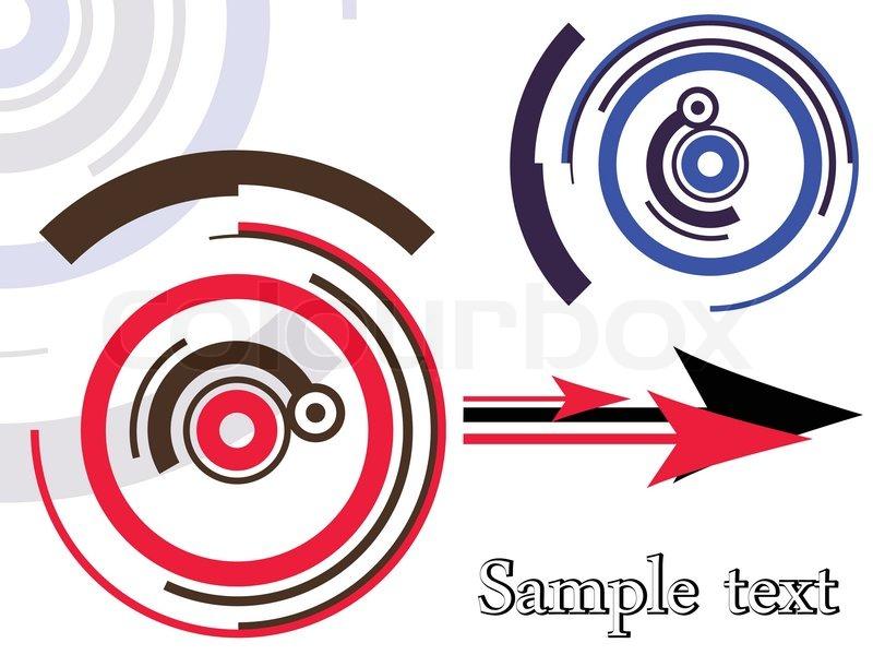 Design retro pattern, abstract vector art illustration | Stock ...