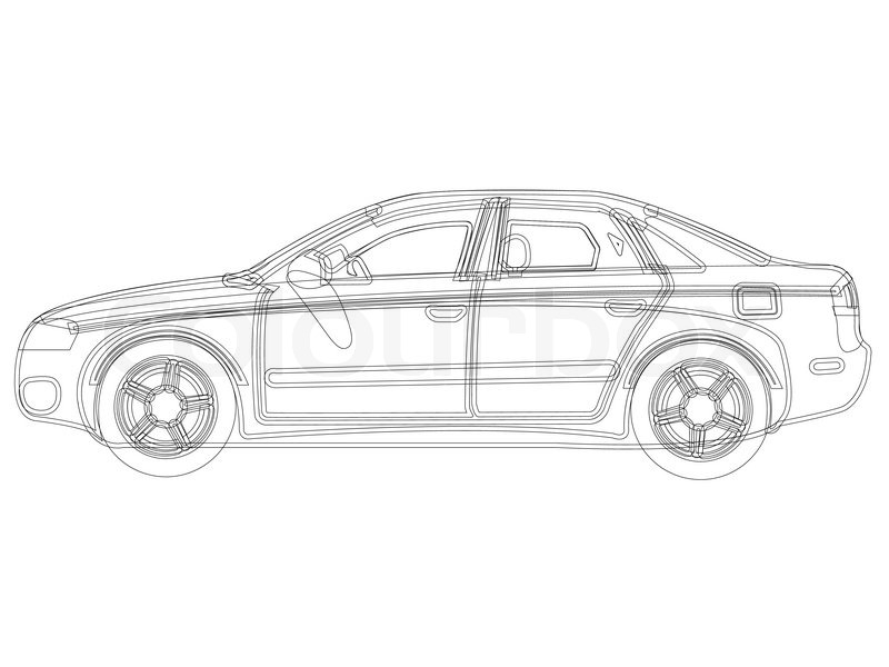 Auto sketch vector against white background, abstract art ...