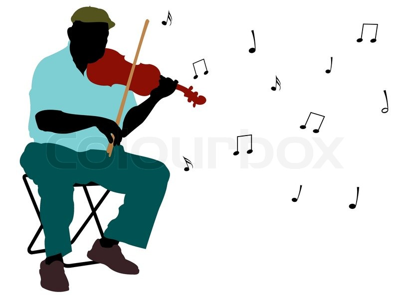 Stock vector of 'Man playing violin silhouette, abstract vector art illustration'