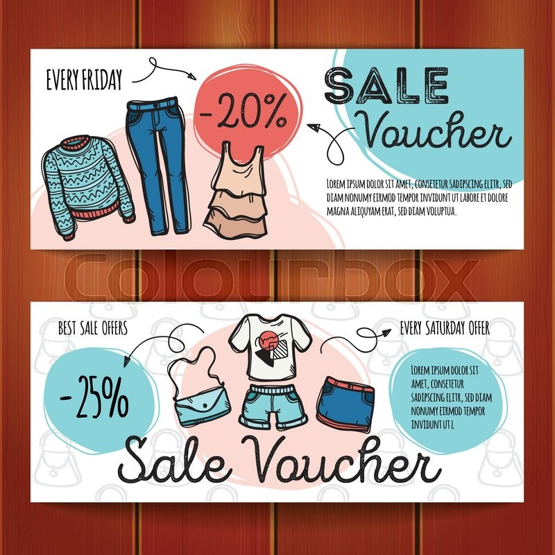 Vector set of discount coupons for beverages Colorful doodle – Discount Coupons Templates