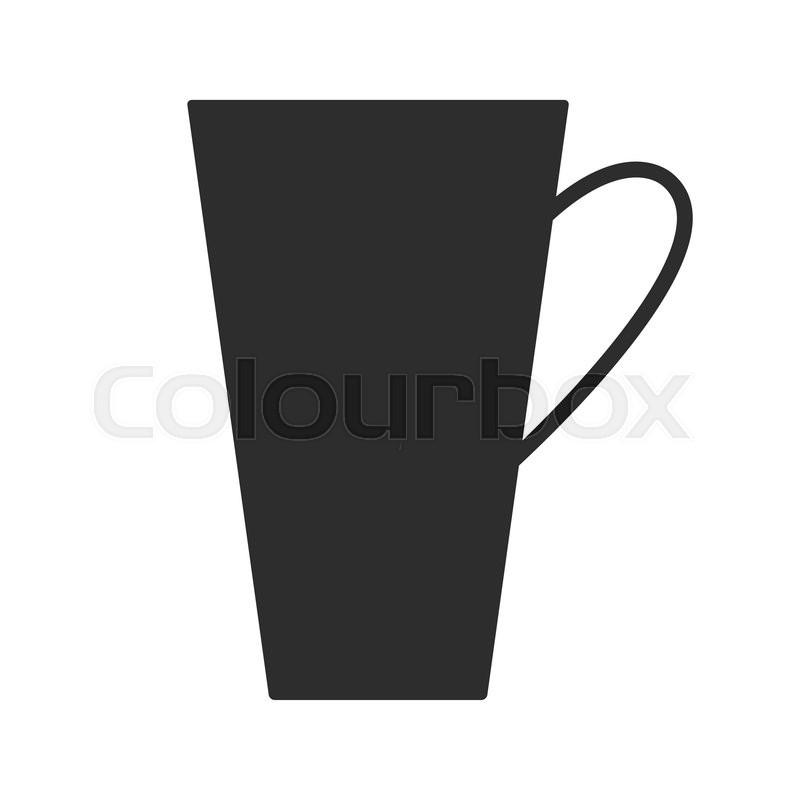 coffee or tea cup mug for drinks black silhouette mugs dishes