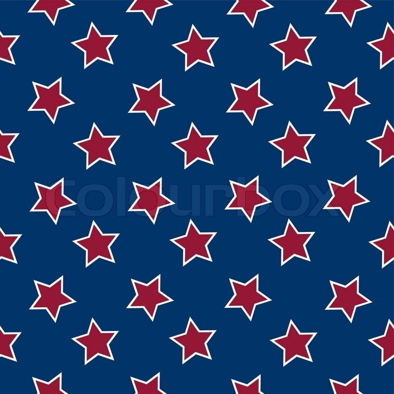 american flag stars background abstract seamless pattern vector