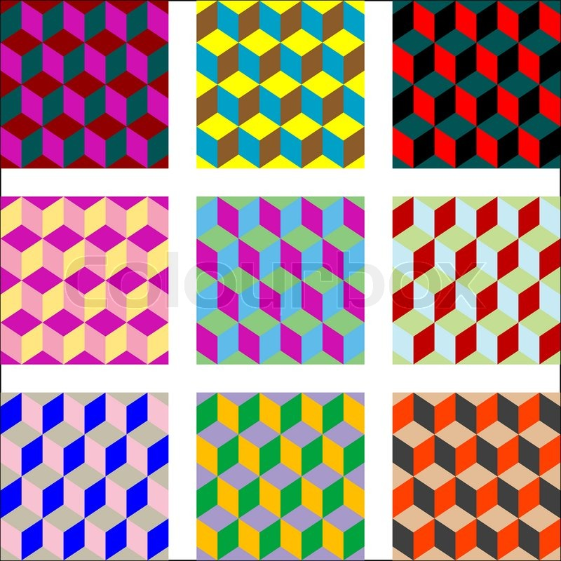 Nine Different Versions Of Psychedelic Patterns Art Illustration Adorable Pattern Art