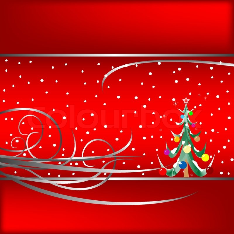 Weihnachtsbaum karte vektor illustration vektorgrafik colourbox - Weihnachtsbaum vektor ...