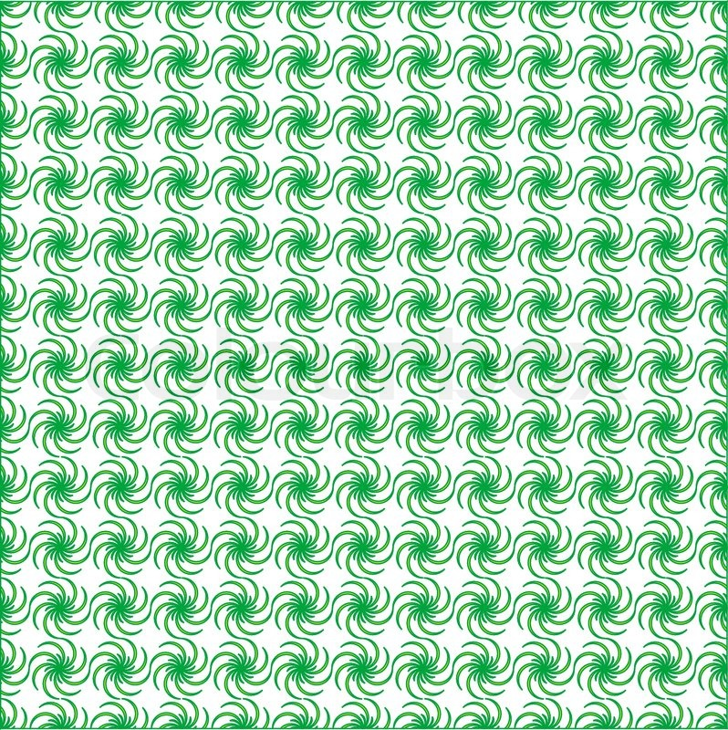 Green Floral Fabric Seamless