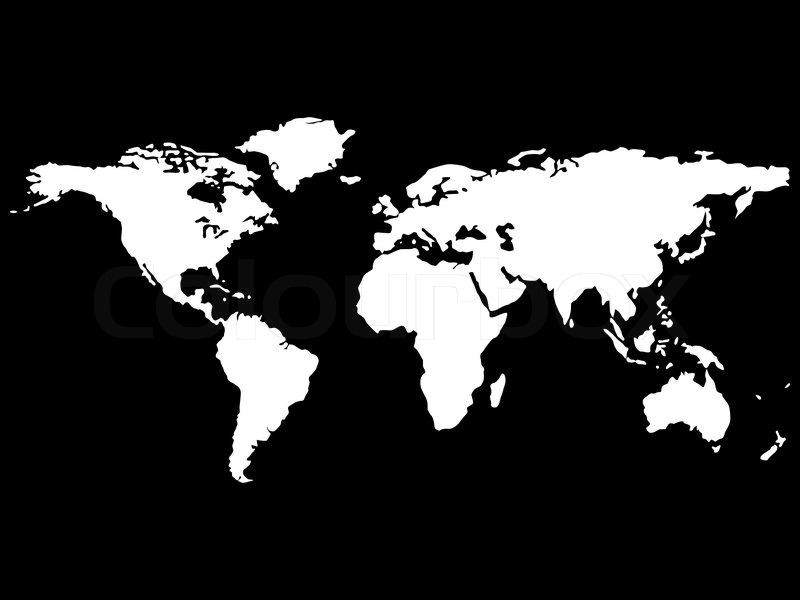 White world map isolated on black background abstract vector art white world map isolated on black background abstract vector art illustration stock vector colourbox gumiabroncs Images