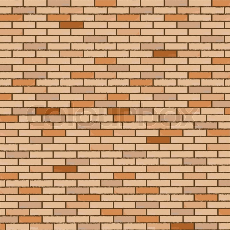 Wall Made Of Bricks Realistic Texture Abstract Vector Art Illustration