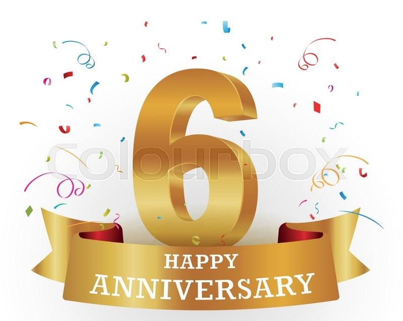 Vector illustration of happy anniversary celebration design