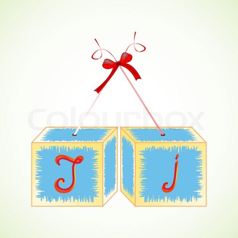 w252rfel alphabet j abstrakte vektorillustrationen stock