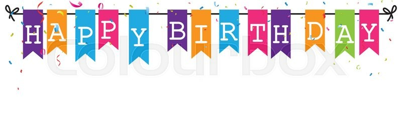 stock vector of vector illustration of bunting flags banner with happy birthday letter
