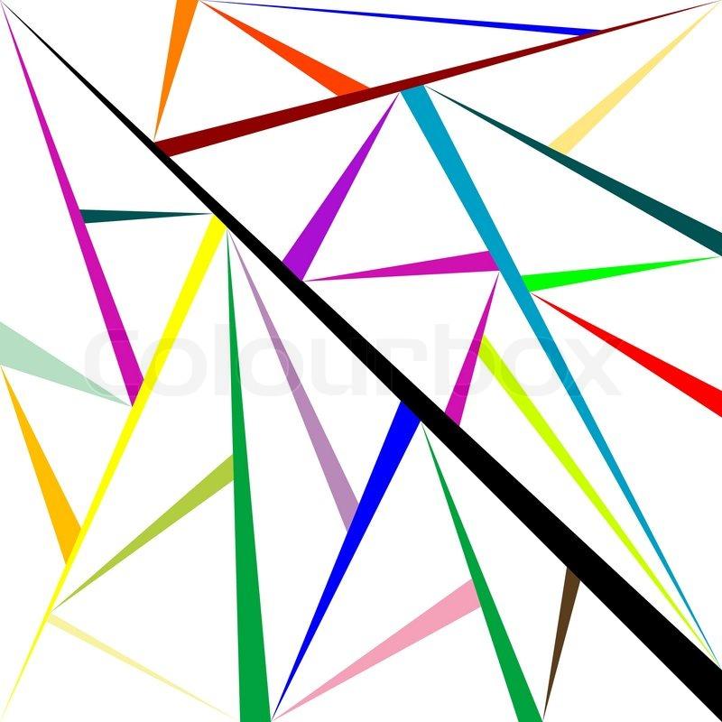 Geometric Mesh, Abstract Vector Art Illustration | Stock Vector | Colourbox