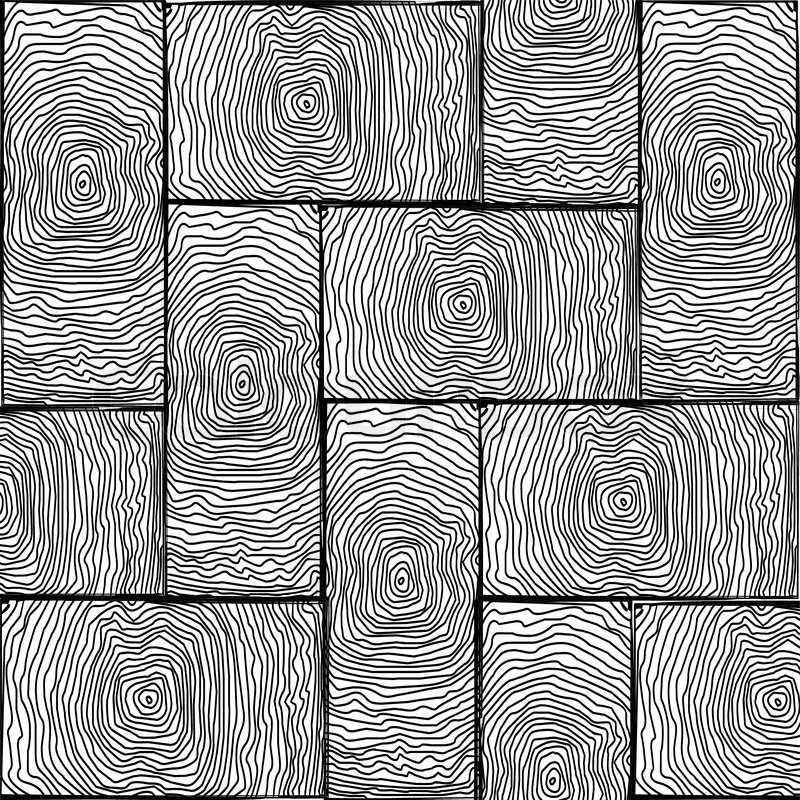 Parquet Small Texture Black And White Abstract Vector Art