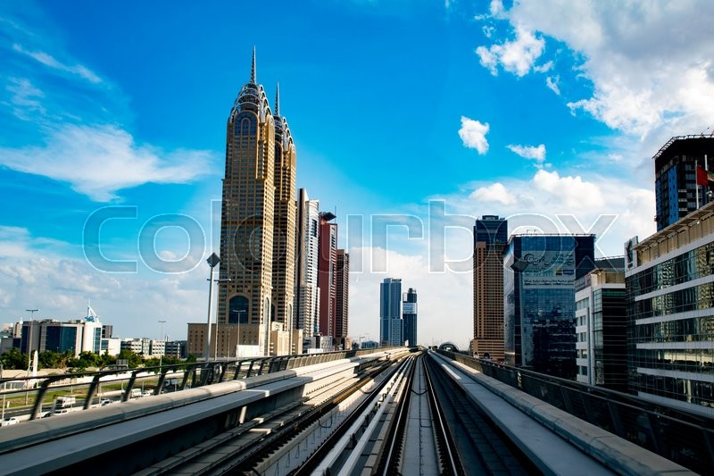Stock image of 'Modern metro in Dubai, UAE'