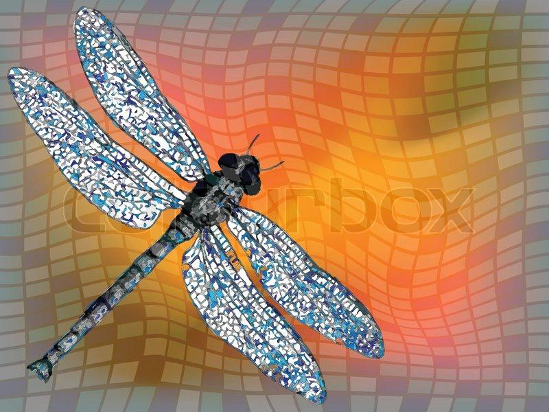 Drachen fliegen gegen quadratischen textur abstrakte for Gelbsticker gegen fliegen