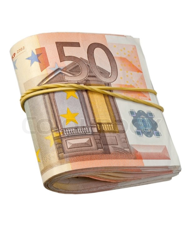 50 euro banknoten unter gummiband stockfoto colourbox. Black Bedroom Furniture Sets. Home Design Ideas