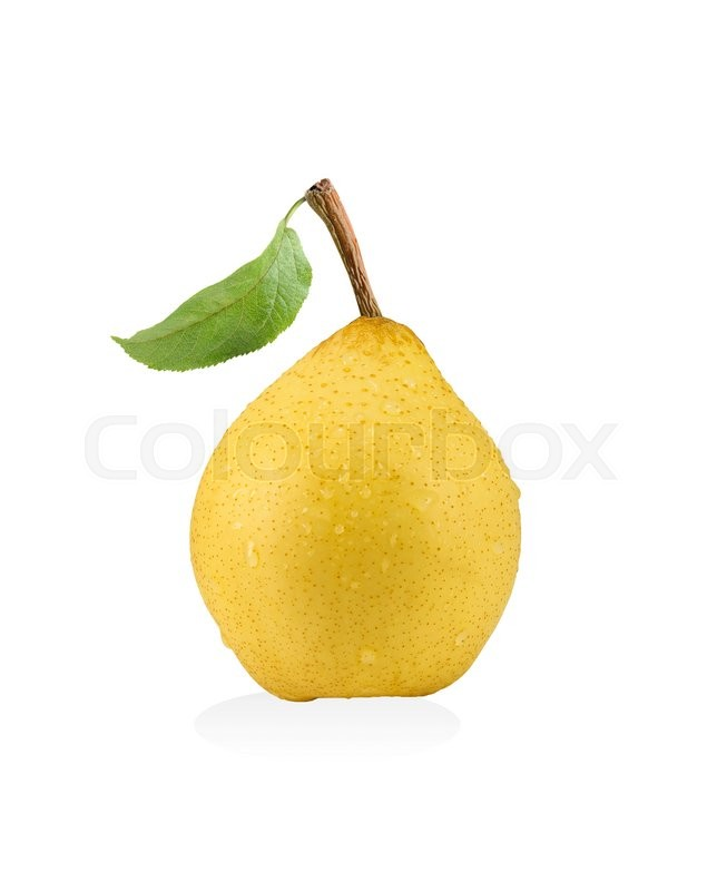 Stock image of 'Juicy yellow pear isolated on white background'