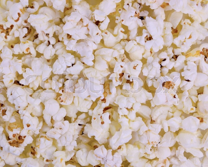 Stock image of 'Air crunchy popcorn. Background macro texture'