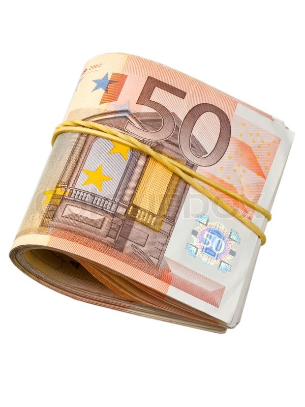 50 euro banknotes under rubber band stock photo colourbox for Wohnwand 50 euro