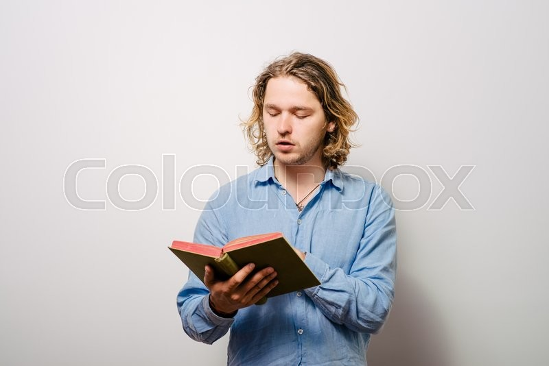 Stock image of 'The man with a book'