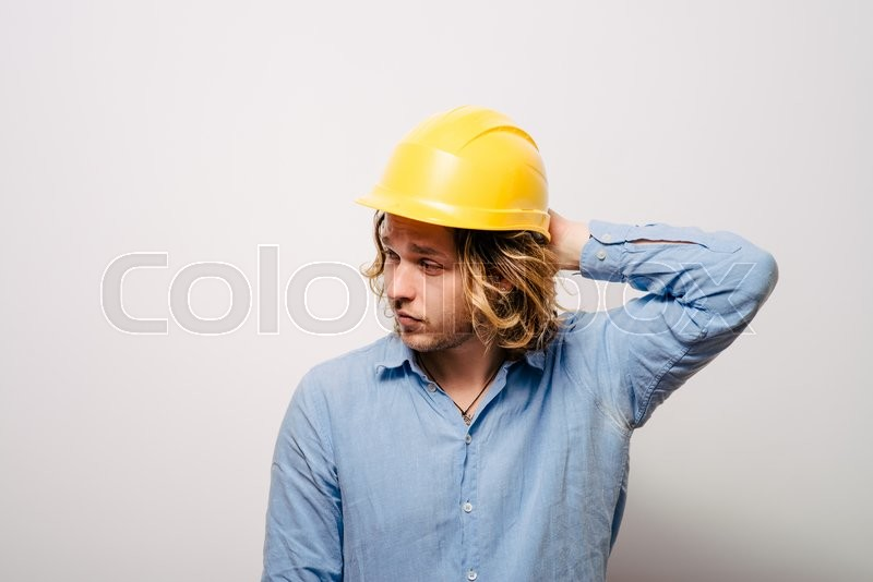 Stock image of 'A man who made a mistake.'