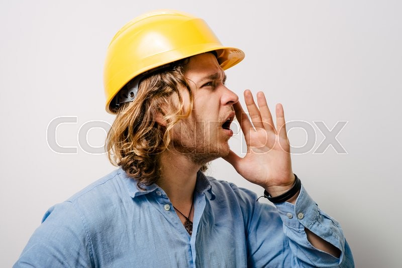 Stock image of 'Call someone. Man'