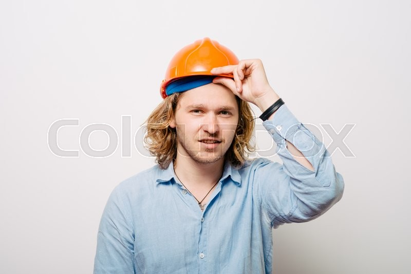Stock image of 'Worker portrait'
